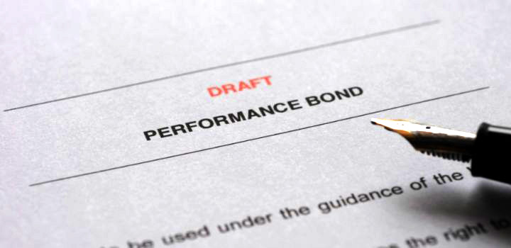 a performance bond document